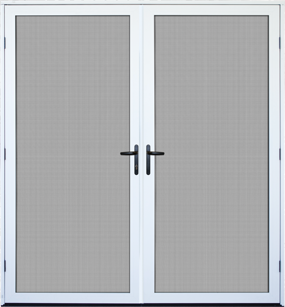 Recessed mount double meshtec ultimate screen door for Double storm doors