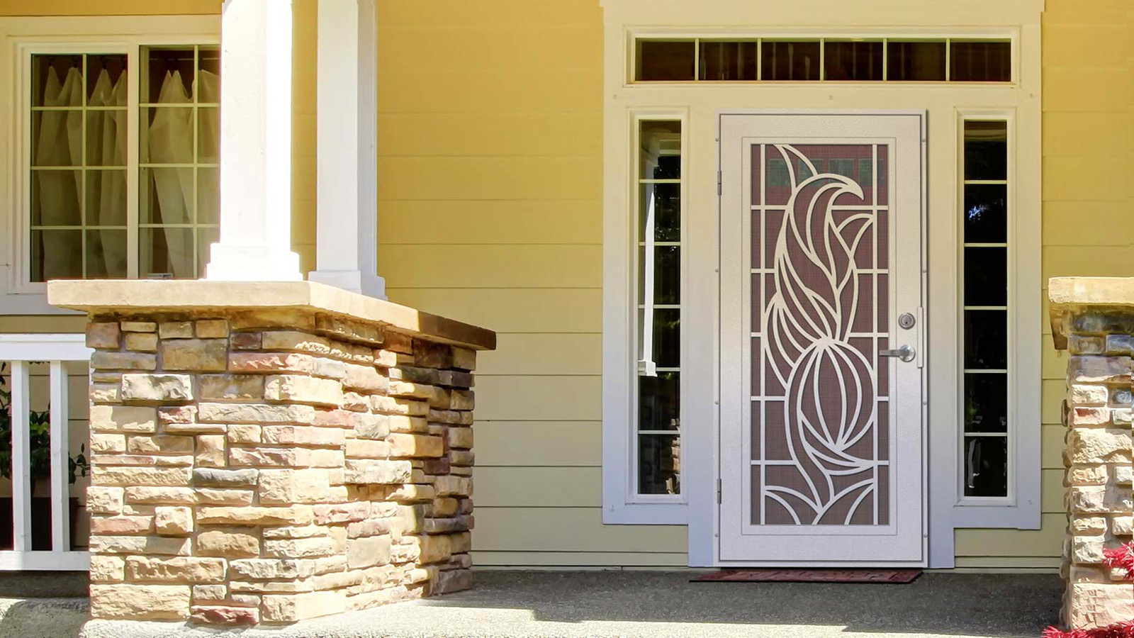 Unique Home Designs Security Doors Screen Doors And Window Guards To Protect And Beautify Your Home